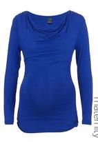 Me-a-mama - Boat-neck Top Cobalt Blue