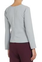 Style republic - AfroDizzy - Structured Blouse Grey Mid Grey