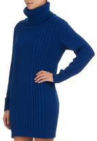 STYLE REPUBLIC - Cable-knit Jersey Dress Cobalt