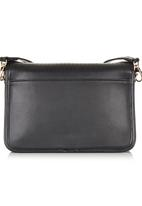 Sam Star - Leather Sling Bag with Metal Detail Black