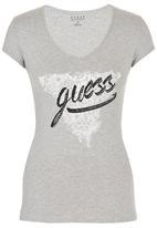 GUESS - Raw Edge Tee Grey