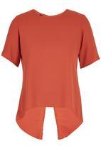c(inch) - Open  Back Blouse Orange