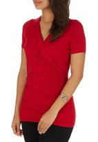 edit - Wrap T-shirt Dark Red