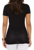 edit - Wrap T-shirt Black