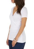 edit - Wrap T-shirt White