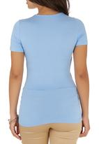 edit - Wrap T-shirt Pale Blue