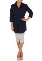 edit - Longer Length Shirt Navy