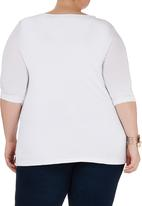 edit - Ruched tee White