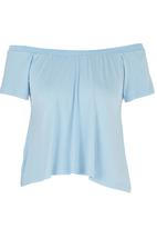 c(inch) - Off the Shoulder Blouse Pale Blue