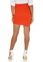 c(inch) - Knot-front Skirt Orange