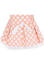 POP CANDY - Polka-dot Skirt Orange