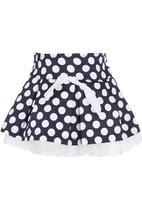 POP CANDY - Polka-dot Skirt Navy