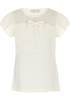 POP CANDY - Lace Back Top Cream