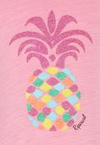 Rip Curl - Pineapple Girl Tee Mid Pink