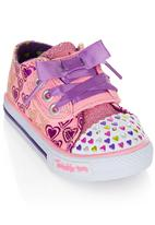 Skechers - Sneaker With Gingham Laces Mid Pink