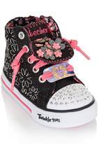 Skechers - Glitter Floral Hi-Top Sneaker Black