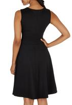 edit - Sweetheart Fit-and-flare Dress Black