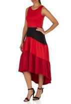 edit - Colourblock Fit-and-flare dress Multi-colour