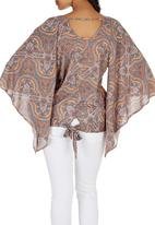 c(inch) - Peasant Bell Sleeve Blouse Orange