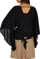 c(inch) - Peasant Bell Sleeve Blouse Black