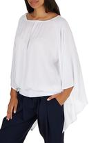 c(inch) - Peasant Bell Sleeve Blouse White
