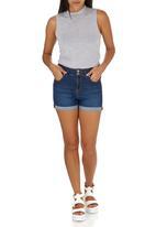c(inch) - Denim shorts Pale Blue