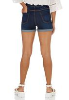 c(inch) - Denim shorts Mid Blue