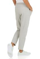 Erke - Knitted Cropped Pants Pale Grey