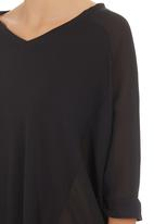 edit - Inset T-shirt Black