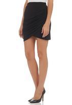 edge - High-waisted Mini Skirt Black