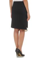 adam&eve; - Midi Skirt with Button Trim Multi-colour