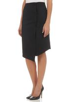 adam&eve; - Midi Skirt with Button-trim Detail Black