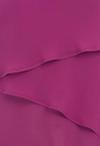Gavin Rajah - Diagonal Layered Bias Camisole Mid Purple Mid Purple