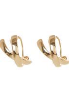edit - Criss Cross Hoop Earrings Gold