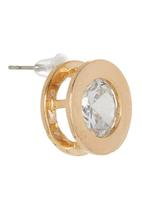 edit - Framed Diamante Stud Earrings Gold