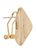 edit - Smooth Curved Square Earrings Gold