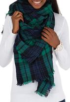 c(inch) - Plaid Oversized Scarf Navy
