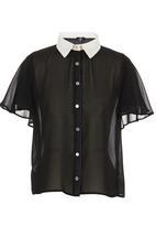 STYLE REPUBLIC - Black boxy shirt Black and White