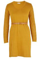edit - Pointelle Jersey Dress Yellow