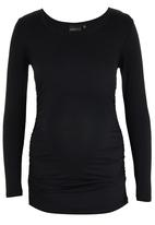 Cherry Melon - Long Sleeve Side Gauge Top Black