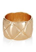 edit - Quilt Effect Ring Gold