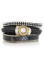 edit - Multi-strap Bangle Black