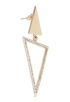 STYLE REPUBLIC - Triangle Earrings Gold