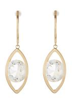 edit - Caged Diamante Drop Earring Gold
