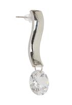 edit - Curved Drop Earrings Silver