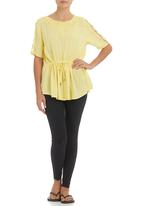 Ketz-ke - Lace-trim Tunic Yellow