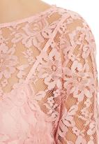 edit - Lace Blouse Light Pink Pale Pink