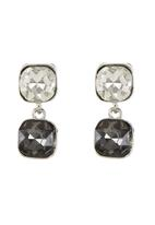 edit - Square Drop Earrings Silver