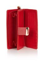 STYLE REPUBLIC - Classic Purse with Metal Trim Red