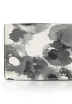 edit - Watercolour Floral Purse Black and White